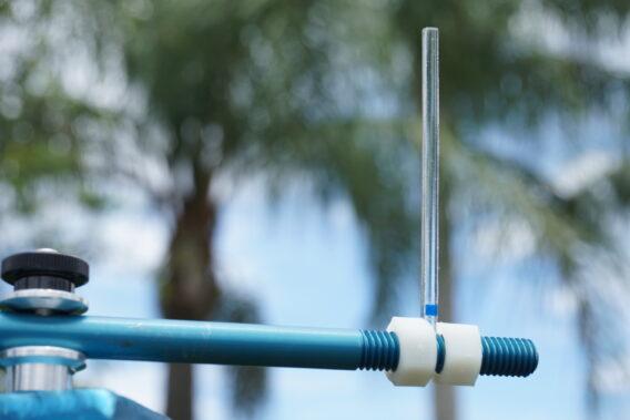 acrylic rod slide teflon impinger resistance trials ULV calibration